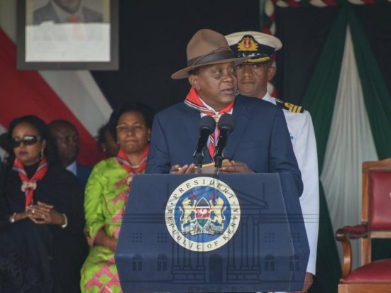 President Uhuru Kenyatta speaks at the Kenya Scouts Association awards ceremony at State House, Nairobi, Saturday, November 25, 2018. /PSCU