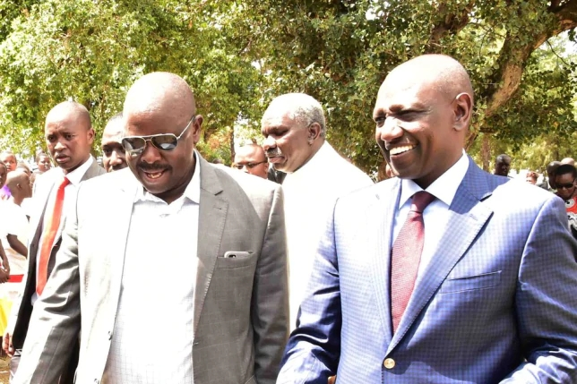 DP William Ruto with former Bomet Governor Isaac Ruto (Courtesy)