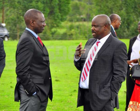 DP Ruto and Isaac have a chat (photo courtesy)
