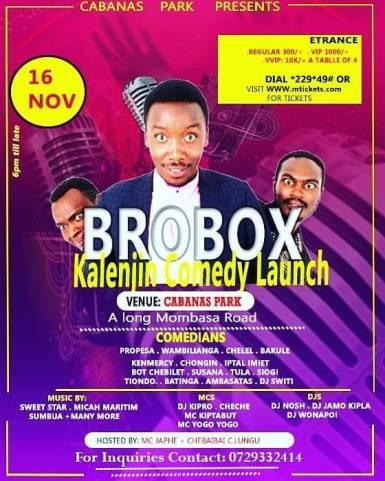 Brobox Comedy Launch