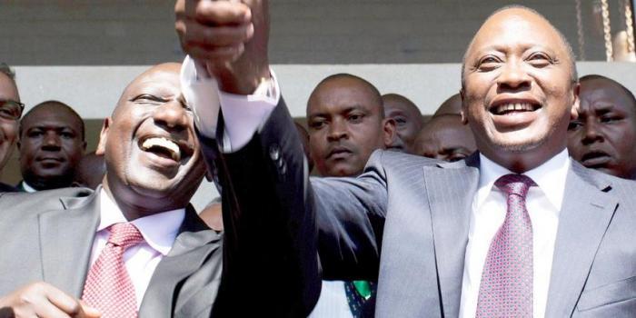 Deputy President William Ruto (left) with President Uhuru Kenyatta (courtesy)