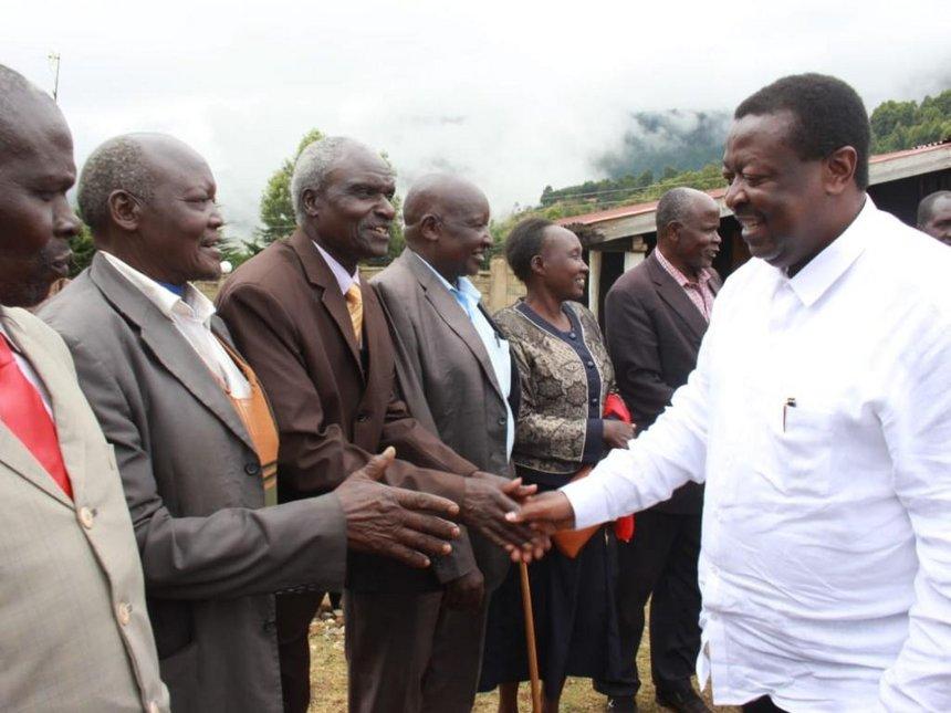 Musalia Mudavadi welcomed by elders in Keiyo South on December 2, 2018.(courtesy)