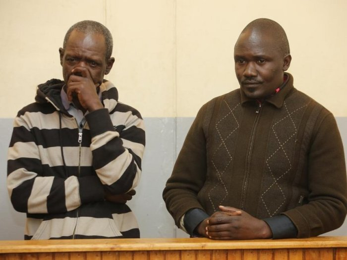 The two suspects when they appeared in court on Monday, December 10, 2018. /MATHEWS NDANYI