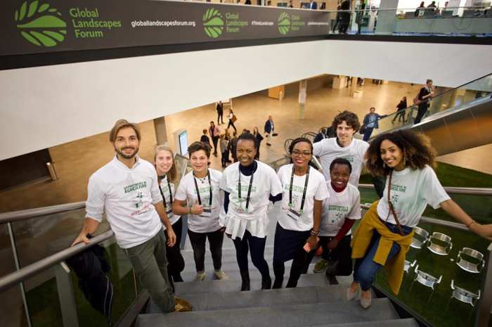 Lily Tanui With Delegates at the Global Landscape Forum In Germany