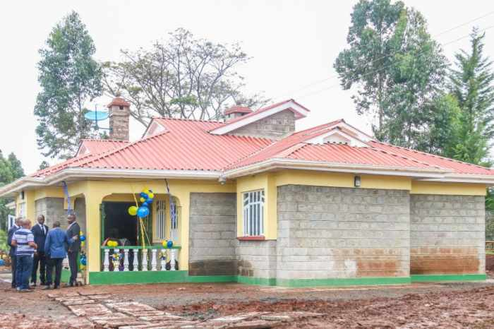 Korir said he had started construction of the house long ago but had stalled due to lack of money. Photo: UGC Source: (COURTESY)