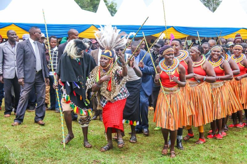 Villagers danced vigorously during the rare party at Cosmas Korir's house. Photo: (COURTESY)