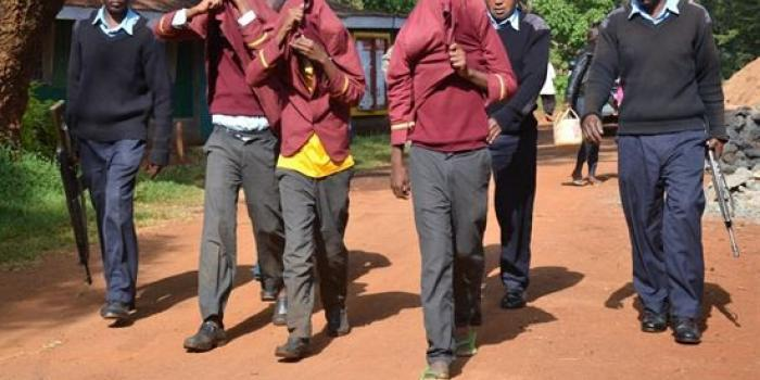 Secondary school students arrested by police officers DAILY NATION