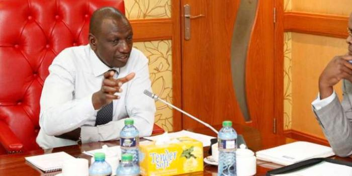 DP William Ruto during a meeting at his office.
