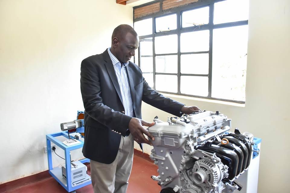 At the official opening of Ndia Technical Training Institute, Gacharu, Kirinyaga County.