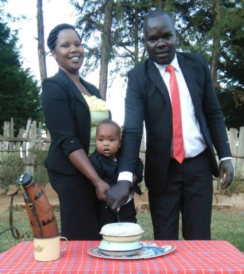 Mr Kitur & His family during the birthday celebration (courtesy)
