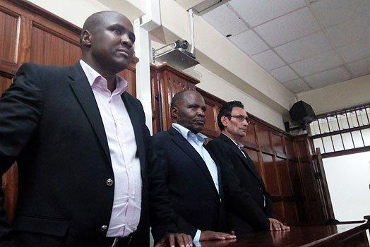 Nandi hills Mp Alfred Keter and the two other accused in the treasury bills case