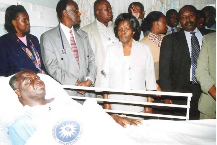 Mwai Kibaki at Nairobi Hospital