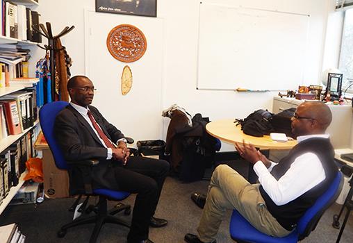 Professor Washington Yotto Ochieng with Chamwada (courtesy)