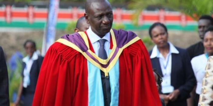Deputy President William Ruto at the 60th graduation ceremony of UoN