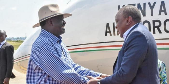 ODM leader Raila Odinga Receives President Uhuru Kenyatta in Kisumu THE STANDARD