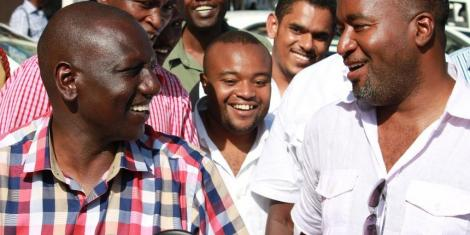Deputy President William Ruto with Governor Hassan in Mombasa County.