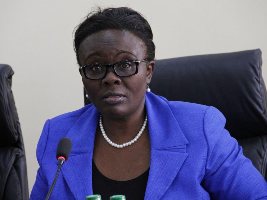 Outgoing NLC vice chairperson Abigael Mbagaya