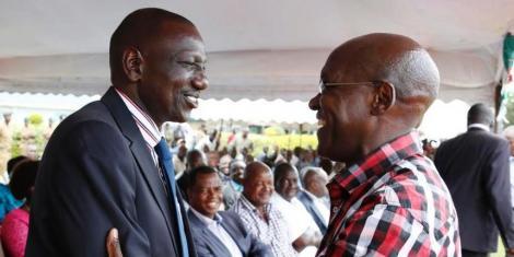 DP Ruto with former Kakamega Senator Boni Khalwale