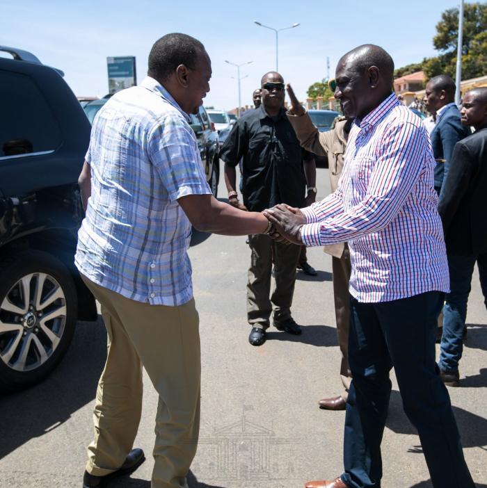 DP William Ruto with President Uhuru Kenyatta