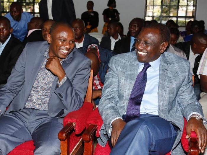 Kikuyu MP Kimani Ichungwah with DP William Ruto