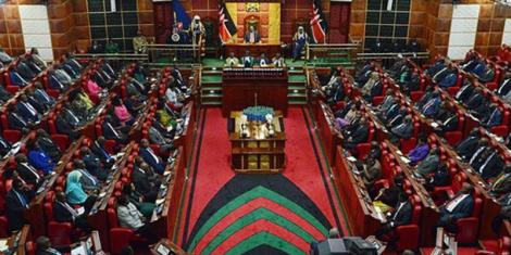 Kenyan Members of Parliament during a session