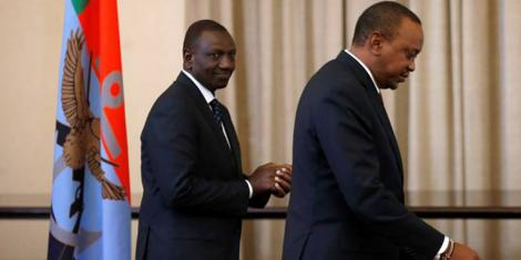President William Ruto (right) and his deputy William Ruto