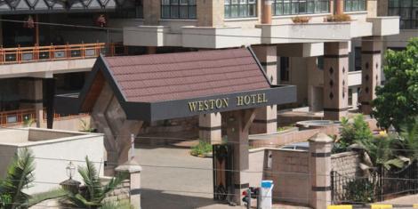 Entrance to Weston Hotel along Lang'ata Road